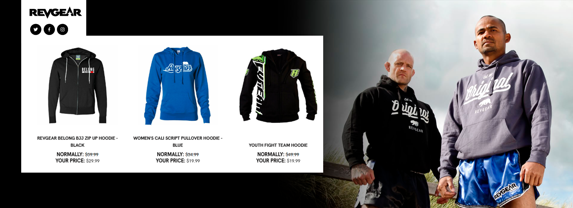 Revgear Hoodies and Jackets