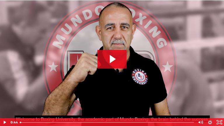 Boxing University by Mundoboxing - Pedro Díaz - Online Boxing Course